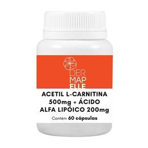 Acetil L Carnitina 500mg + Ácido Alfa Lipoico 200mg 60 Doses