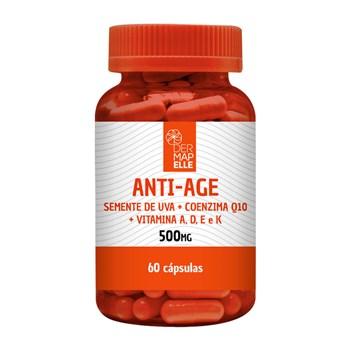 Anti-Age (Óleo de Semente de Uva + Coenzima Q10 + Vitamina A, D, E e K) 500mg 60 cápsulas
