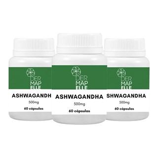 Ashwagandha 500mg 60 Cápsulas (3 Unidades)
