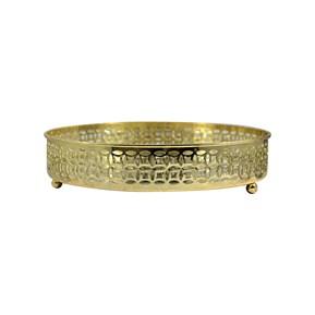 Produto Bandeja Decorativa Dourada - Redonda