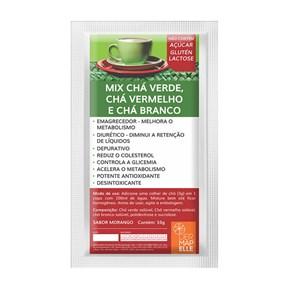Chá Solúvel | Chá Verde + Chá Vermelho + Chá Branco 10g