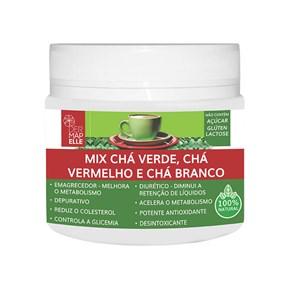 Produto Chá Solúvel | Chá Verde + Chá Vermelho + Chá Branco 220g