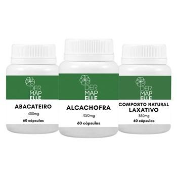 COMBO Abacateiro 400mg + Alcachofra 450mg + Composto Natural Laxativo 350mg