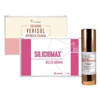 COMBO | Ácido Hialurônico + Colágeno Verisol + SiliciuMax Beleza Máxima