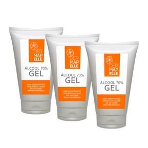 COMBO | Álcool Gel Higienizante 70% 60ml (3 Unidades)