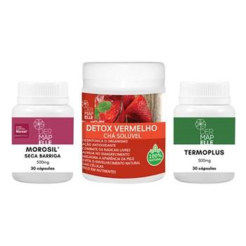 COMBO | Chá Solúvel Detox Vermelho + Termoplus + Morosil Seca Barriga