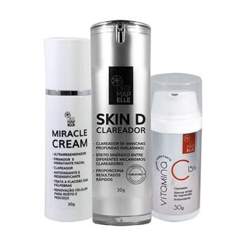 COMBO | Clareador de Manchas Skin D + Ultra Regenerador Miracle Cream + Smart Cream 15%
