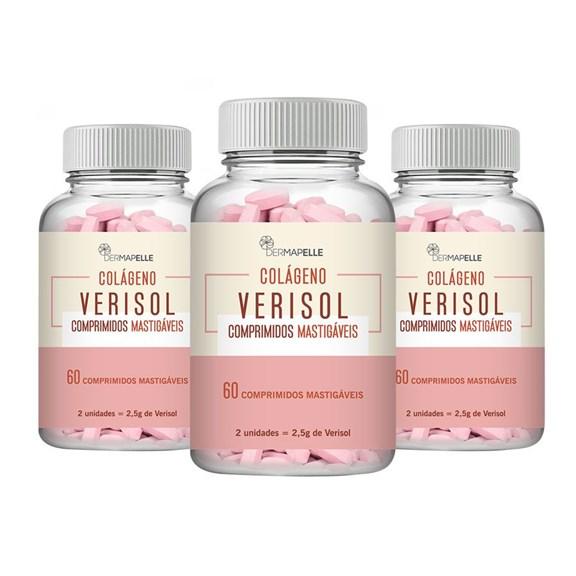 COMBO | Colágeno Verisol 60 Comprimidos Mastigáveis (3un)