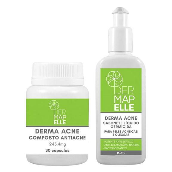 COMBO Composto Antiacne 245,4mg + Sabonete Líquido 150ml - Derma Acne