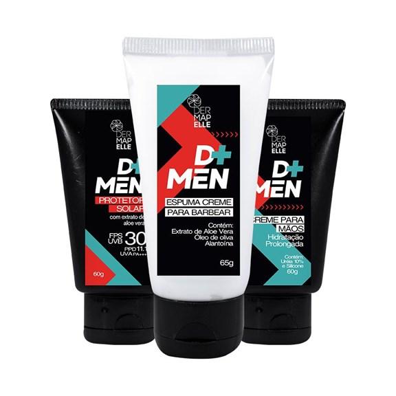 COMBO   Creme para mãos com Ureia 10% + Espuma de Barbear + Protetor Facial FPS 30