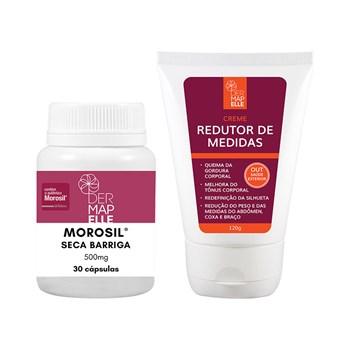 COMBO | Creme Redutor de Medidas 120g + Morosil Seca Barriga 500mg 30 Cápsulas