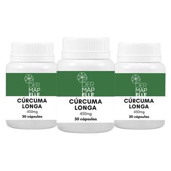 COMBO Cúrcuma Longa 450mg 30 cápsulas (3 unidades)