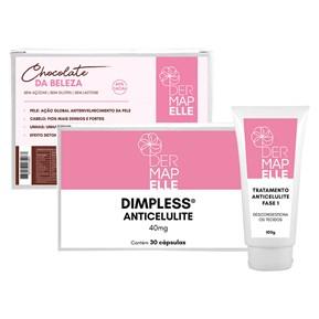COMBO | Dimpless® Anti Celulite + Tratamento da Celulite  Dermacel Fase 1 + Chocolate da Beleza