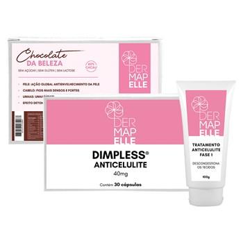COMBO Dimpless® Anticelulite + Tratamento Anticelulite Fase 1 + Chocolate da Beleza