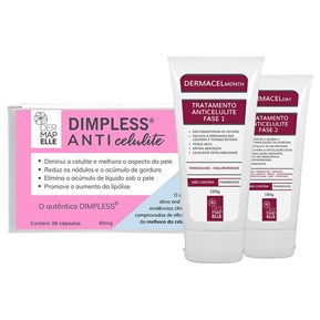 COMBO | Dimpless Anticelulite + Dermacel Month Fase 1 + Dermacel Month Fase 2