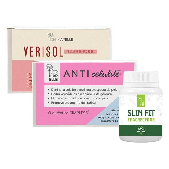 COMBO   Dimpless Anticelulite + Slim Fit Emagrecedor + Colágeno Verisol
