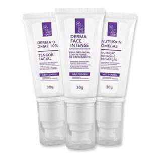 COMBO | DMAE 10% - Tensor Facial + Emulsão Facial Intense + Creme Hidratante Facial Nutriskin Ômegas