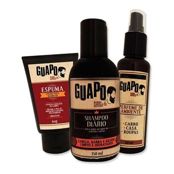 COMBO | Espuma de Barbear 60g + Shampoo Diário 150ml + Perfume de Ambiente 120ml