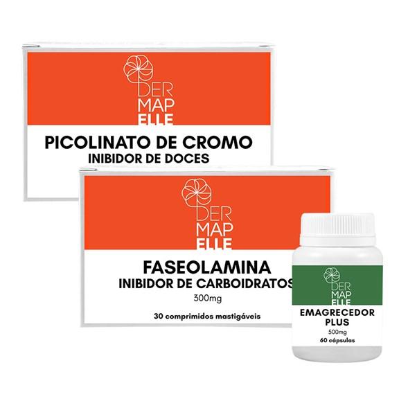 COMBO  Faseolamina + Picolinato de Cromo- Inibidor de Doces + Emagrecedor Plus