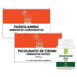 COMBO| Faseolamina + Picolinato de Cromo- Inibidor de Doces + Emagrecedor Plus