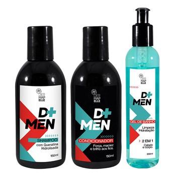 COMBO Gel de Banho + Shampoo + Condicionador - Linha D+ Men