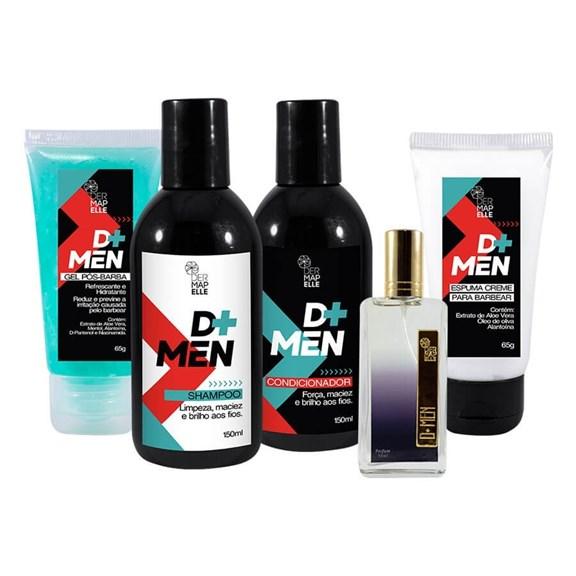 COMBO   Gel Pós Barba + Espuma de Barbear + Condicionador + Shampoo + Perfume Masculino