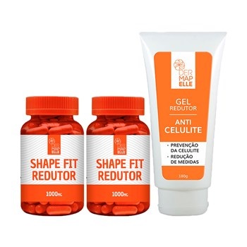 COMBO | Gel Redutor Anticelulite 180g + Shape Fit Redutor com óleo de Cártamo (2 unidades)