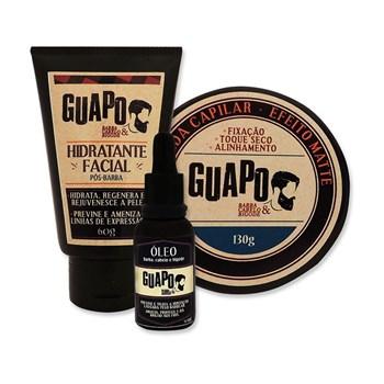 COMBO | Hidratante Facial Pós-Barba 60g + Óleo Pós-Barba 30ml + Pomada Capilar Efeito Matte 130g