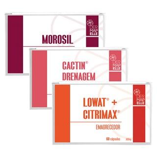 COMBO | Lowat com Citrimax Emagrecedor + Cactin Drenagem Linfática + Morosil Seca Barriga