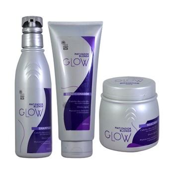 COMBO Máscara Matizadora, Condicionador Matizador e Shampoo Matizador - Blonde Glow