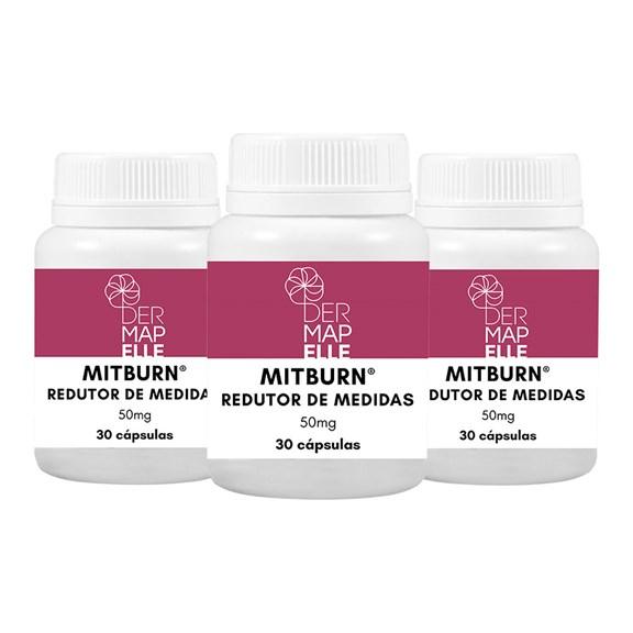 COMBO| Mitburn® - Redutor de Medidas 50mg 30 Cápsulas (3 Unidades)