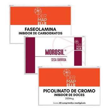 COMBO| Morosil® Seca Barriga + Faseolamina + Picolinato de Cromo- Inibidor de Doces