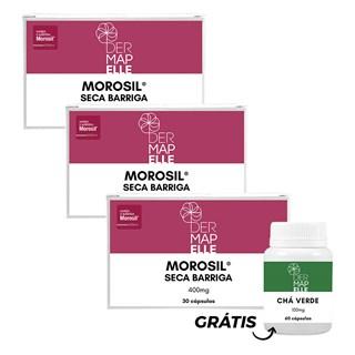 Combo Morosil 400mg 30 cápsulas 3 unidades + Chá Verde Grátis
