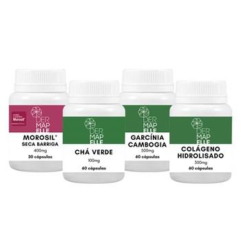 Combo Morosil + Chá Verde + Colágeno + Garcínia Cambogia