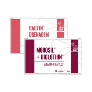 COMBO   Morosil com Diglothin Seca Barriga Plus + Cactin Drenagem Linfática