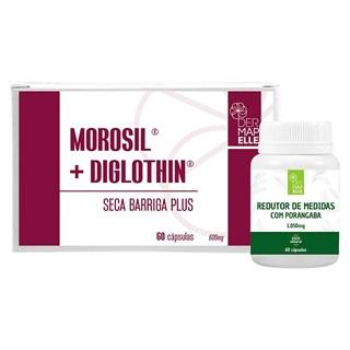 COMBO   Morosil com Diglothin Seca Barriga Plus + Redutor de Medidas com Porangaba