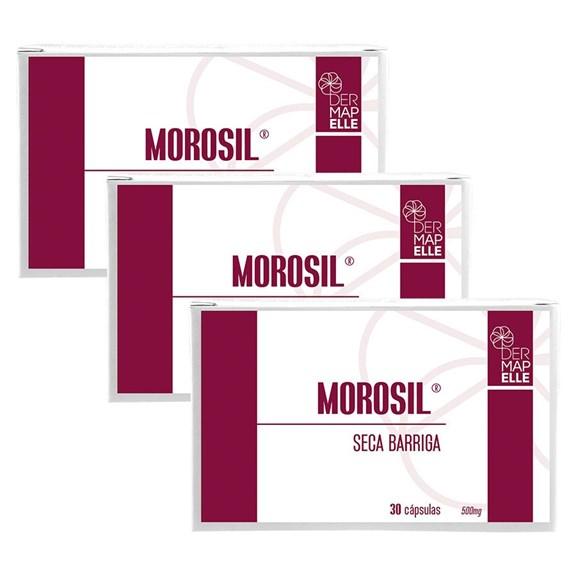 COMBO   Morosil Seca Barriga 500mg 30 Cápsulas (3 Unidades)