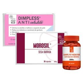 COMBO   Morosil Seca Barriga + Shape Fit Redutor com Óleo de Cártamo + Dimpless Anticelulite
