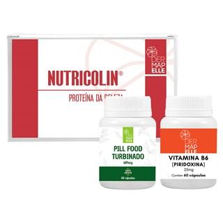 COMBO| Nutricolin®- Proteína da Beleza + Pill Food Turbinado + Vitamina B6 (Piridoxina)