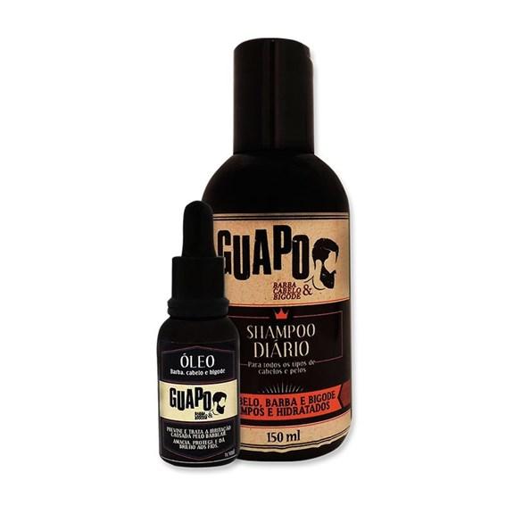 COMBO   Óleo Pós-Barba 30ml + Shampoo Diário 150ml