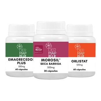 COMBO| Orlistat + Emagrecedor Plus +  Morosil® Seca Barriga