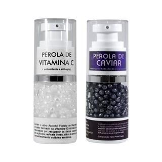 COMBO | Pérolas de Caviar 15g + Pérolas de Vitamina C 15g