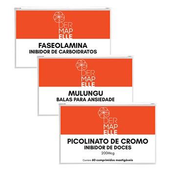 COMBO | Picolinato de Cromo + Faseolamina + Mulungu Balas para Ansiedade