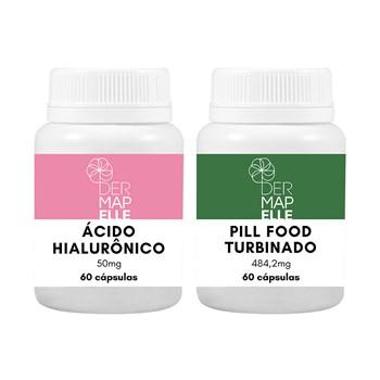 COMBO| Pill Food Turbinado + Ácido Hialurônico