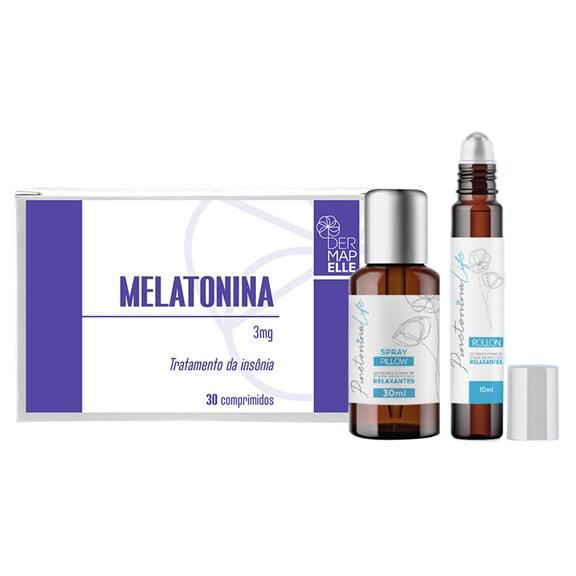 COMBO | Pinetonina Spray Pillow + Pinetonina Roll On + Melatonina 3mg