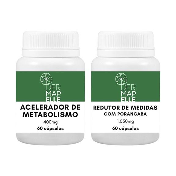 COMBO   Redutor de Medidas com Porangaba + Acelerador de Metabolismo