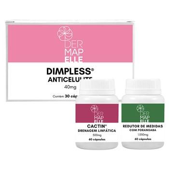 COMBO | Redutor de Medidas com Porangaba + Dimpless® Anticelulite + Cactin Drenagem Linfática