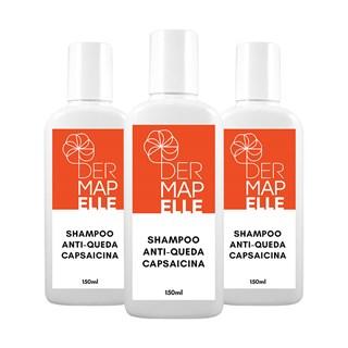 COMBO| Shampoo Antiqueda Capsaicina 150ml (3 Unidades)