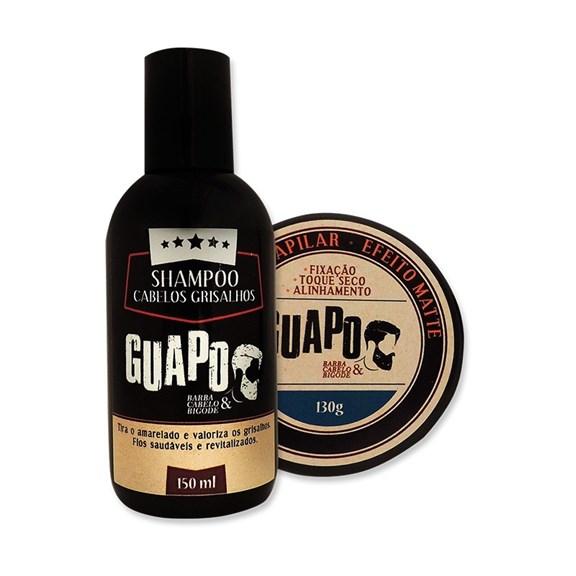 COMBO | Shampoo Grisalhos 150ml + Pomada Capilar Efeito Matte 130g