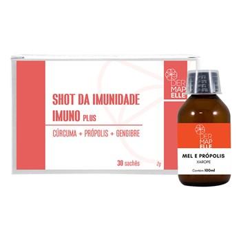 COMBO Shot de Imunidade 2g 30 sachês + Xarope Mel e Própolis 100ml